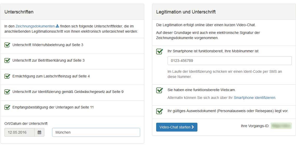 Digitaler Zeichnungsprozess - Schritt 6: Legitimation & Unterschrift