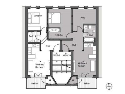 Drittes und viertes Obergeschoss