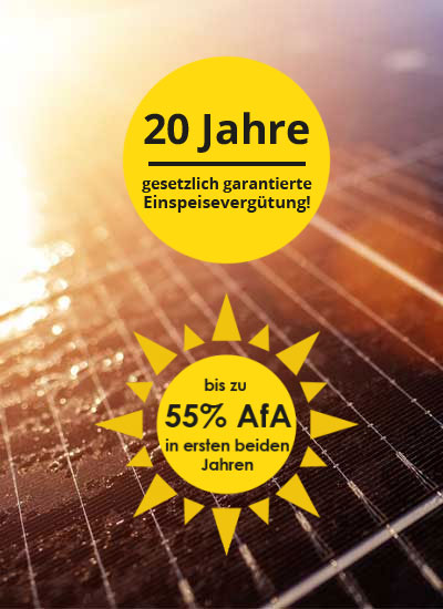Solaranlagen (Photovoltaik) als Direktinvestment - gesetzliche Vorteile und Steuervorteile